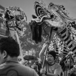 Man Leading Dragon Dancers