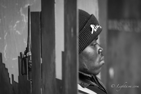 Security Guard Daydreaming at the Johannesburg art gallery photo walk