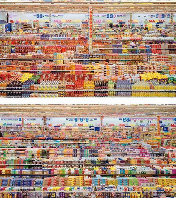 Andreas Gursky, 99 Cent II Diptychon 2001